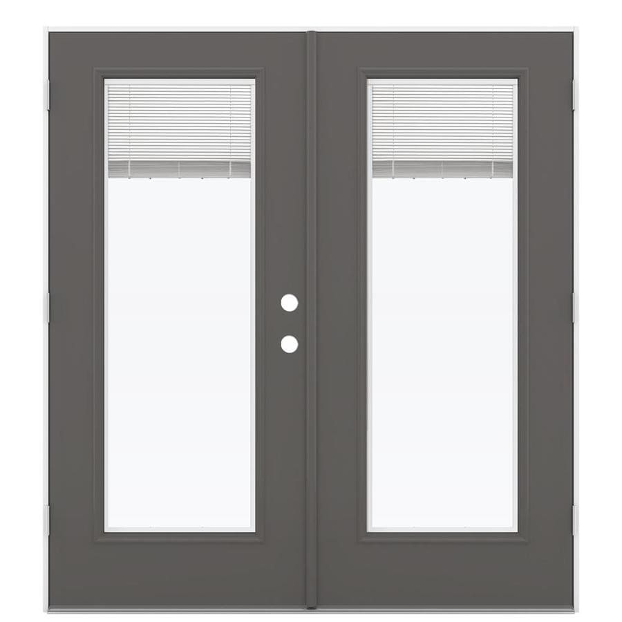 Jeld wen blinds between the glass steel right hand - Outswing exterior french doors with blinds ...