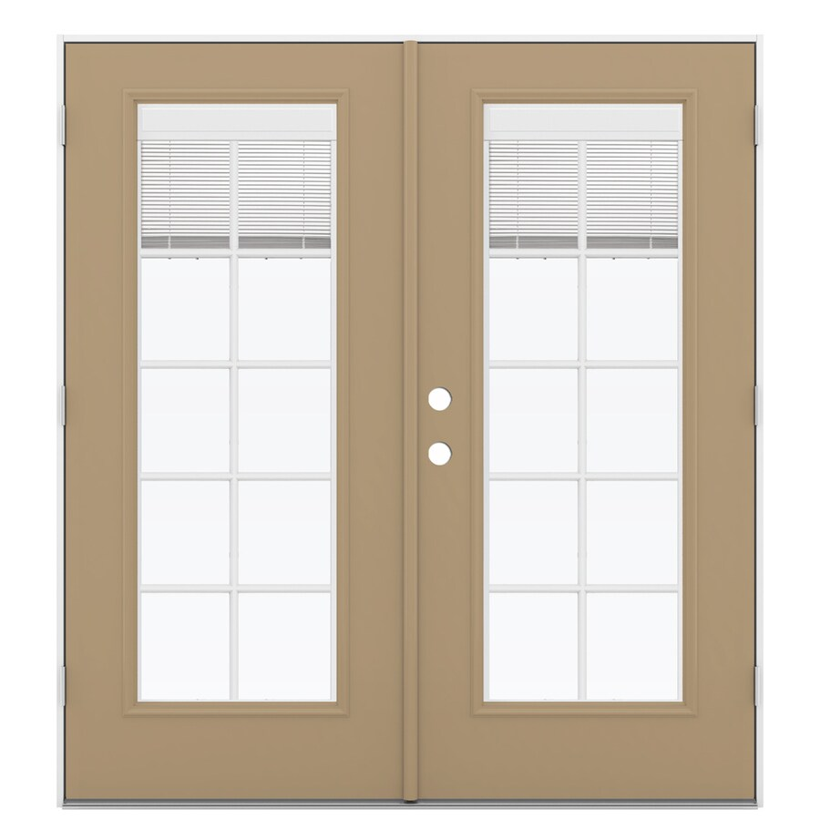 Reliabilt French Patio Doors: Shop ReliaBilt 71.5-in Blinds Between The Glass Warm Wheat