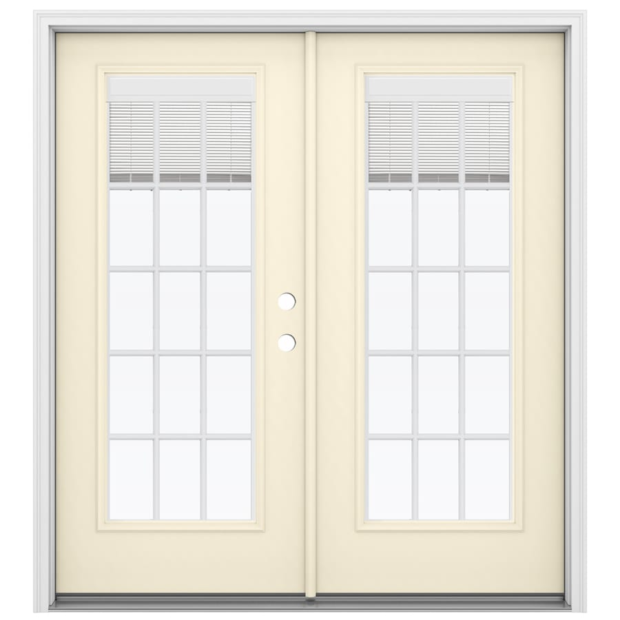 Entry Doors With Blinds Between Glass : Shop reliabilt in blinds between the glass bisque