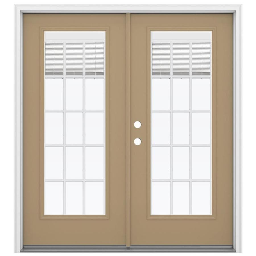 Reliabilt French Patio Doors: Shop ReliaBilt 71.5-in X 79.5-in Blinds Between The Glass