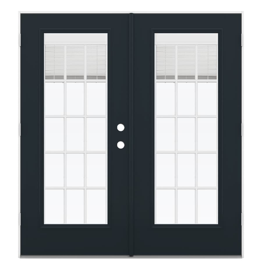 ReliaBilt 71.5-in Blinds Between the Glass Eclipse Steel French Outswing Patio Door