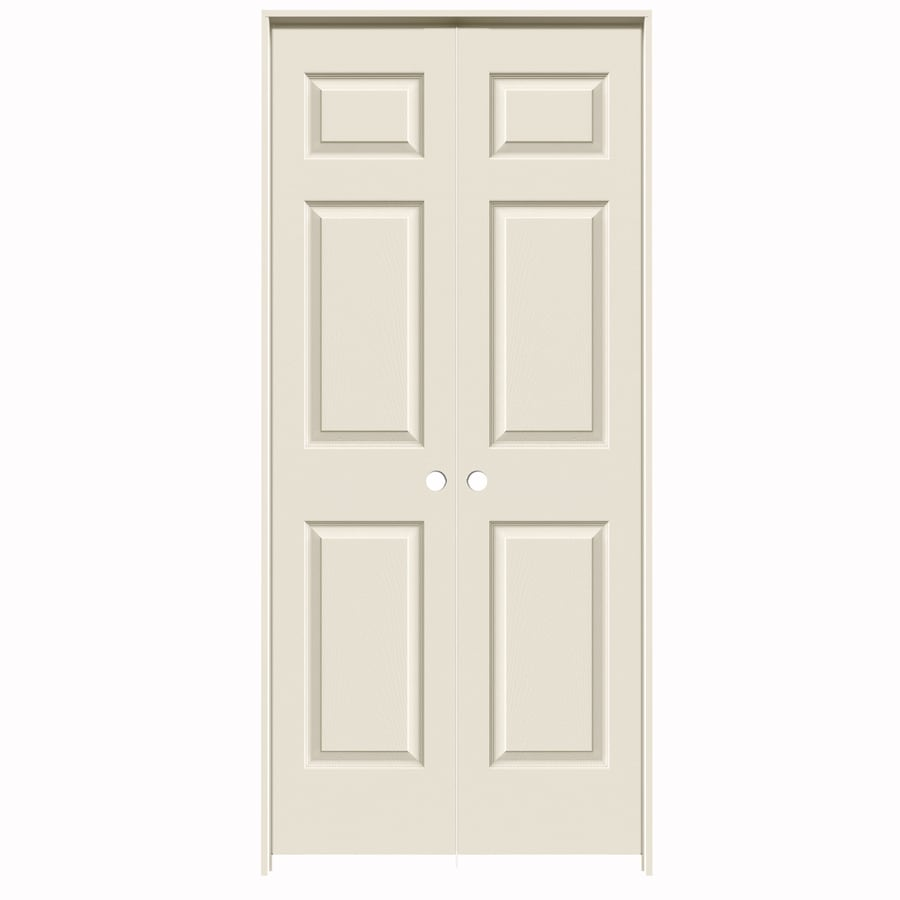 Shop Reliabilt Primed Prehung Hollow Core 6 Panel French Interior Door Common 36 In X 80 In
