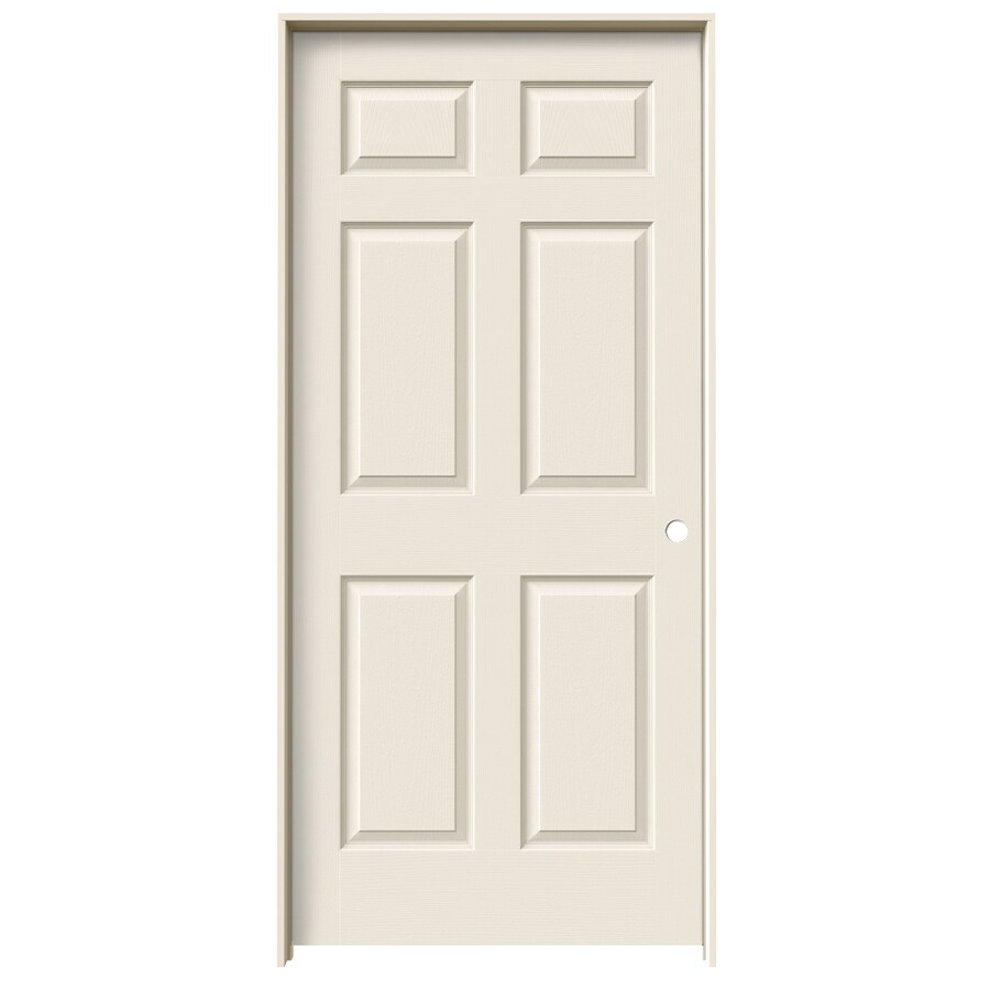 Shop Reliabilt Primed Prehung Hollow Core 6 Panel Interior Door Common 24 In X 60 In Actual