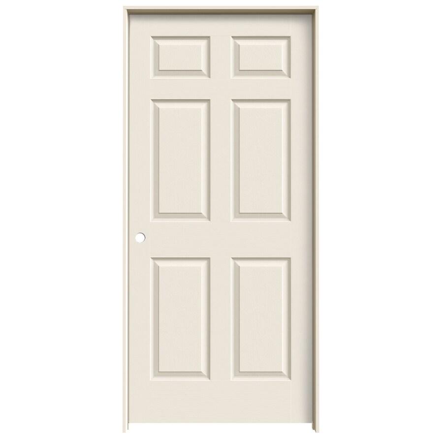ReliaBilt Prehung Solid Core 6-Panel Interior Door (Common: 24-in x 80-in; Actual: 25.563-in x 81.688-in)