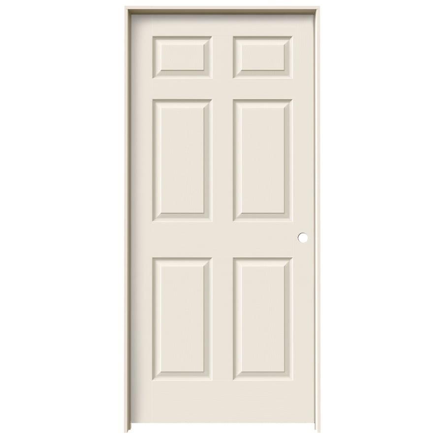 ReliaBilt Prehung Solid Core 6-Panel Interior Door (Common: 28-in x 80-in; Actual: 29.563-in x 81.688-in)