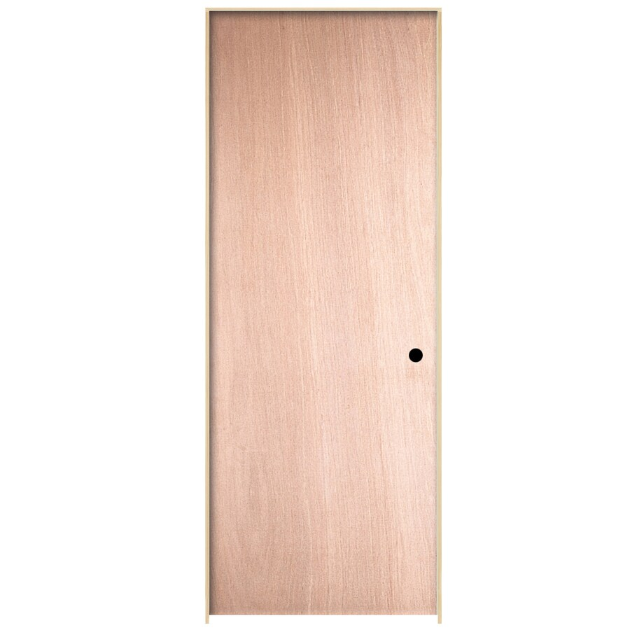 ReliaBilt Prehung Hollow Core Flush Birch Interior Door (Common: 24-in x 80-in; Actual: 25.563-in x 81.687-in)