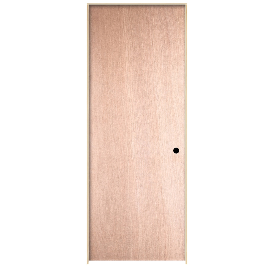 ReliaBilt Prehung Hollow Core Flush Birch Interior Door (Common: 32-in x 80-in; Actual: 33.563-in x 81.687-in)
