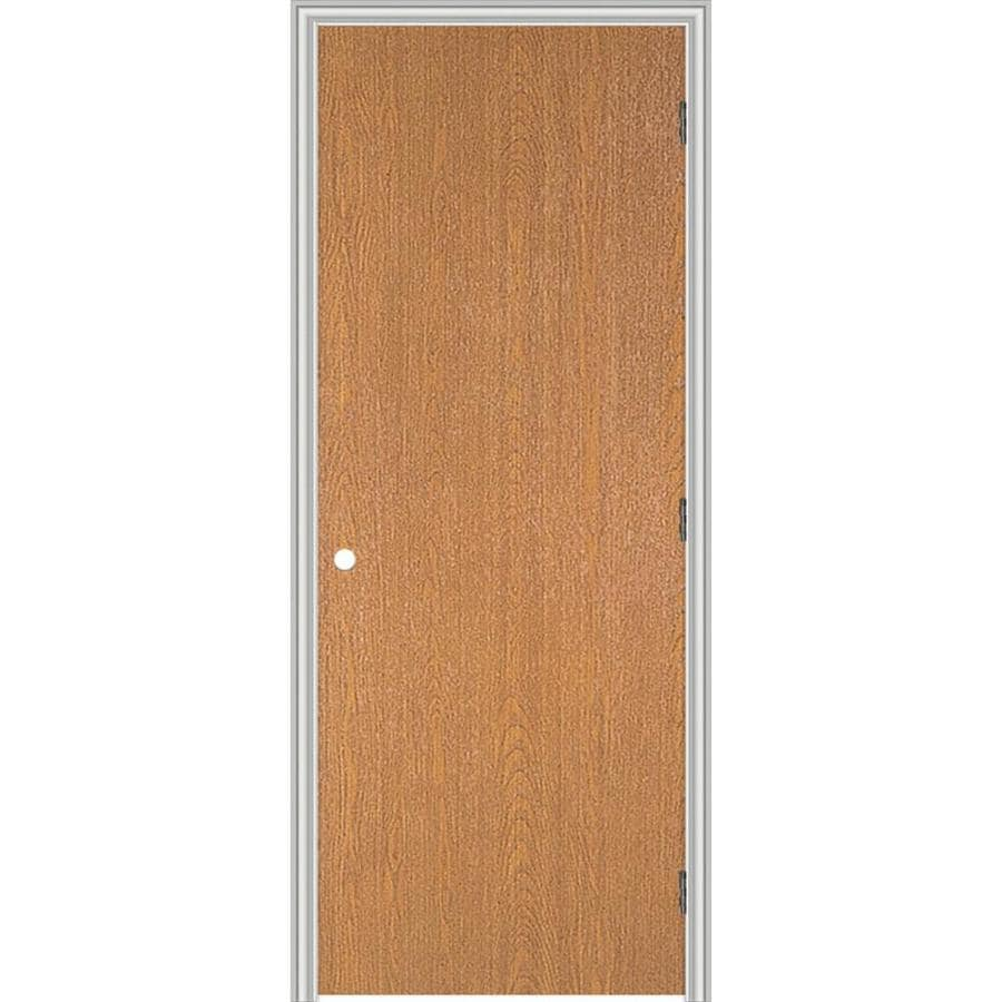 ReliaBilt Prehung Hollow Core Flush Lauan Interior Door (Common: 24-in x 80-in; Actual: 25.563-in x 81.687-in)