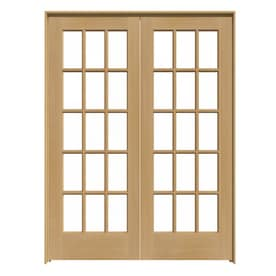 ReliaBilt Prehung Solid Core 15 Lite Pine French Interior Door