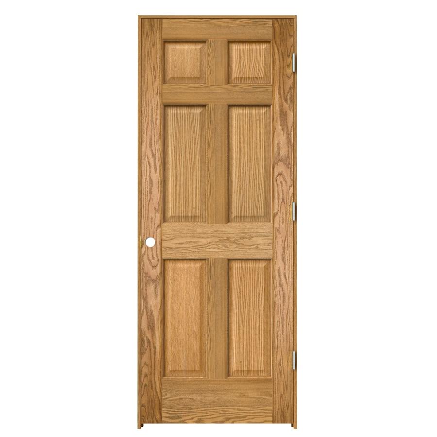 ReliaBilt Colonist Solid Core Oak Single Prehung Interior Door (Common: 30-in x 80-in; Actual: 31.563-in x 81.687-in)