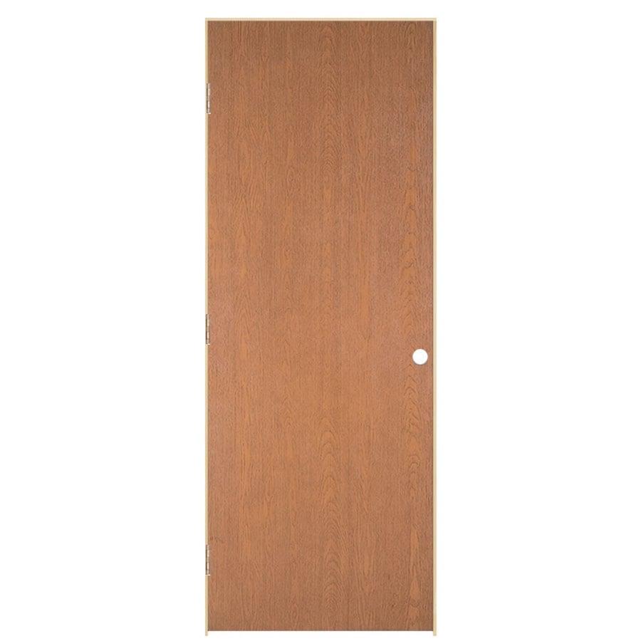 ReliaBilt Prehung Hollow Core Flush Oak Interior Door (Common: 28-in x 80-in; Actual: 29.562-in x 81.688-in)