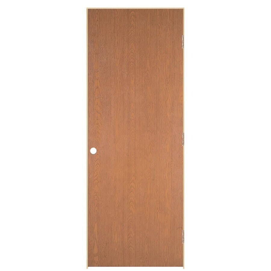 ReliaBilt Hollow Core Oak Single Prehung Interior Door (Common: 30 In X 80