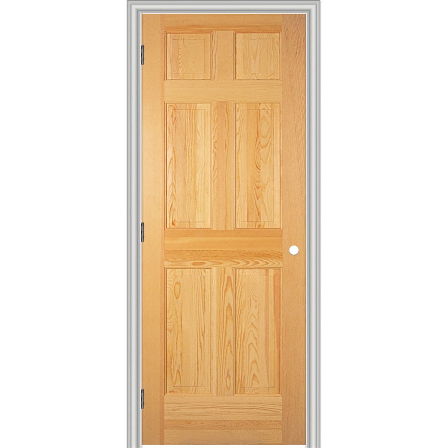 ReliaBilt 6-panel Pine Single Prehung Interior Door (Common: 36-in x 80-in; Actual: 37.562-in x 81.688-in)