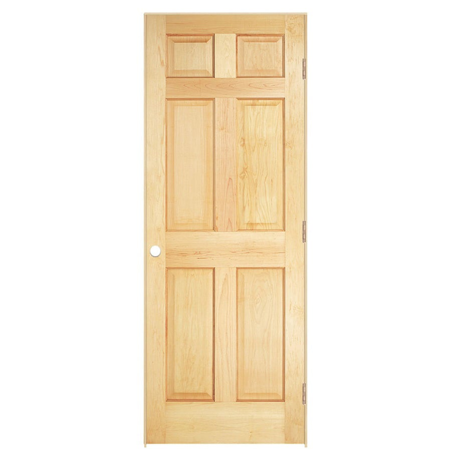 ReliaBilt Prehung Solid Core 6-Panel Pine Interior Door (Common: 32-in x 80-in; Actual: 33.5620-in x 81.6880-in)
