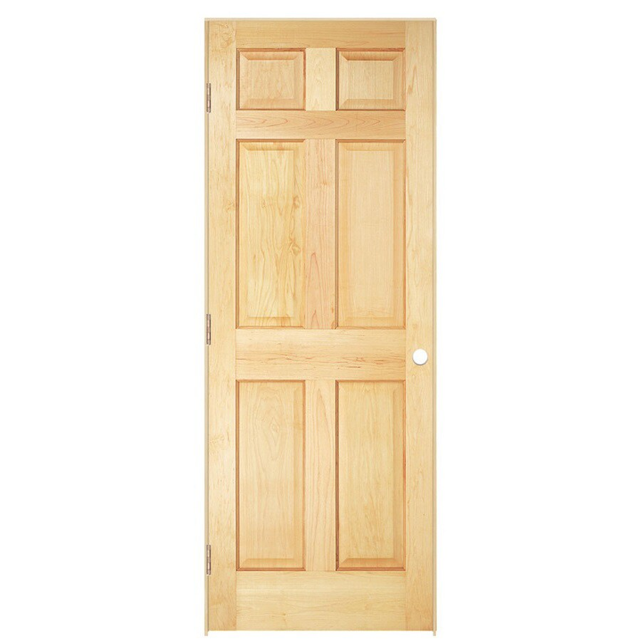 ReliaBilt Prehung Solid Core 6-Panel Pine Interior Door (Common: 36-in x 80-in; Actual: 37.5620-in x 81.6880-in)