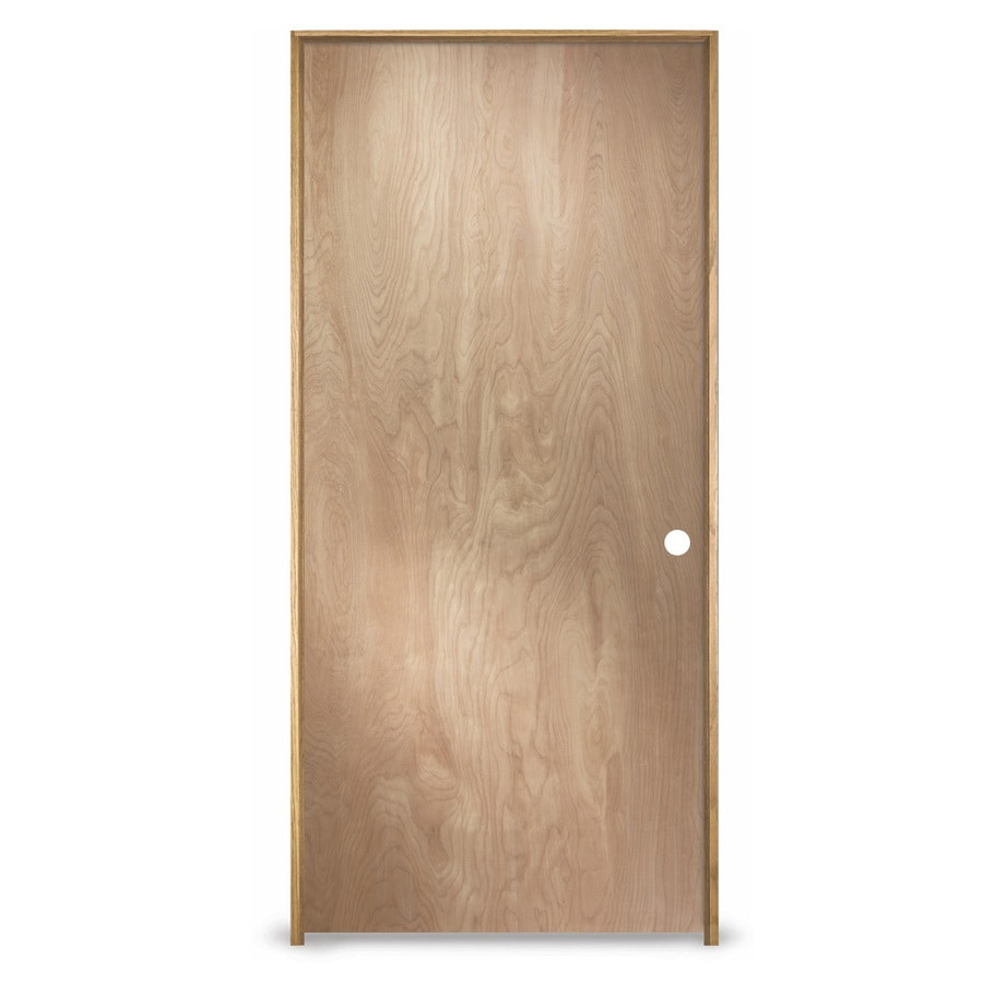 ReliaBilt Prehung Hollow Core Flush Birch Interior Door (Common: 32-in x 80-in; Actual: 33.562-in x 81.688-in)