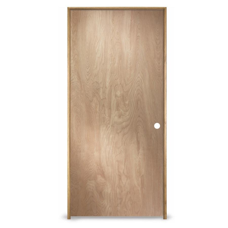 ReliaBilt Prehung Hollow Core Flush Birch Interior Door (Common: 36-in x 80-in; Actual: 37.562-in x 81.688-in)
