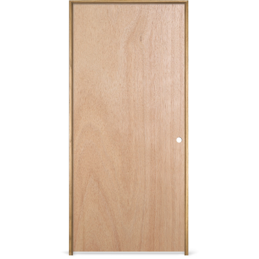 JELD-WEN Prehung Hollow Core Flush Lauan Interior Door (Common: 18-in x 80-in; Actual: 19.563-in x 81.687-in)