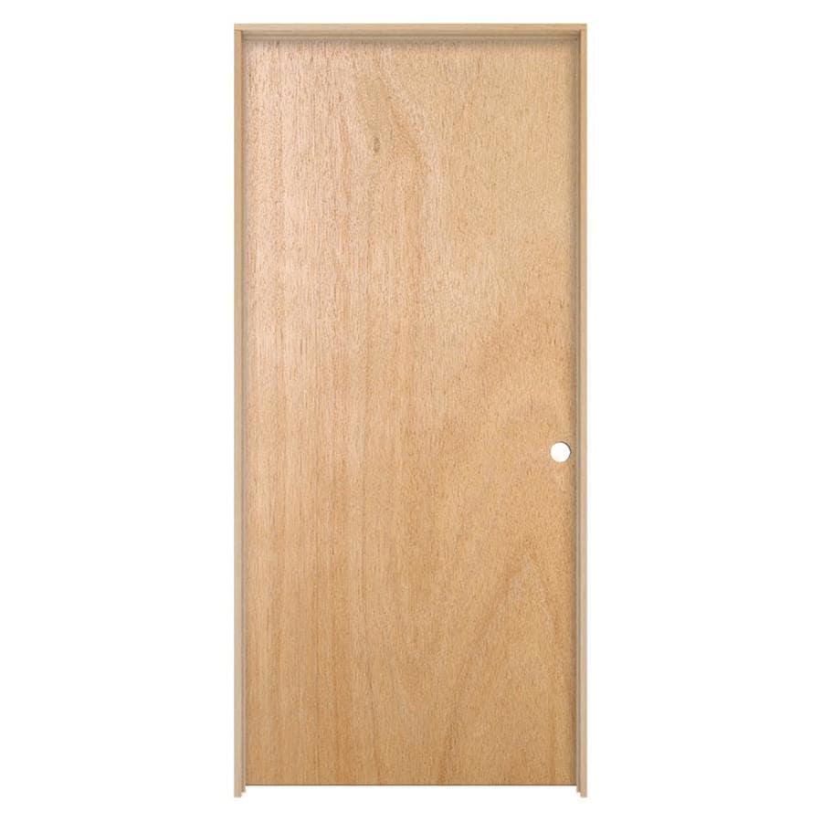 ReliaBilt Prehung Hollow Core Flush Lauan Interior Door (Common: 30-in x 80-in; Actual: 31.562-in x 81.688-in)