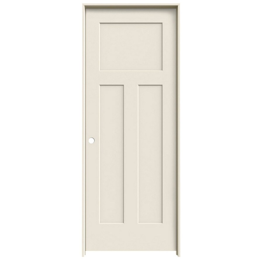 ReliaBilt Prehung Hollow Core 3-Panel Craftsman Interior Door (Common: 24-in x 80-in; Actual: 25.5620-in x 81.6880-in)