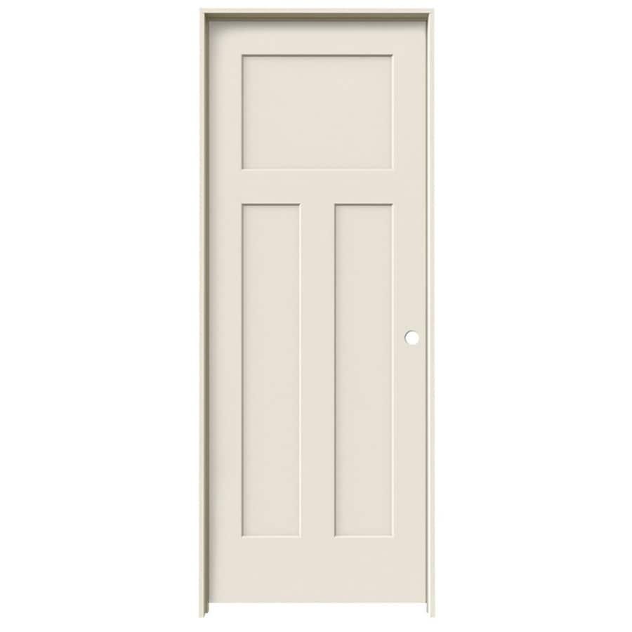 ReliaBilt Prehung Hollow Core 3-Panel Craftsman Interior Door (Common: 24-in x 80-in; Actual: 25.562-in x 81.688-in)
