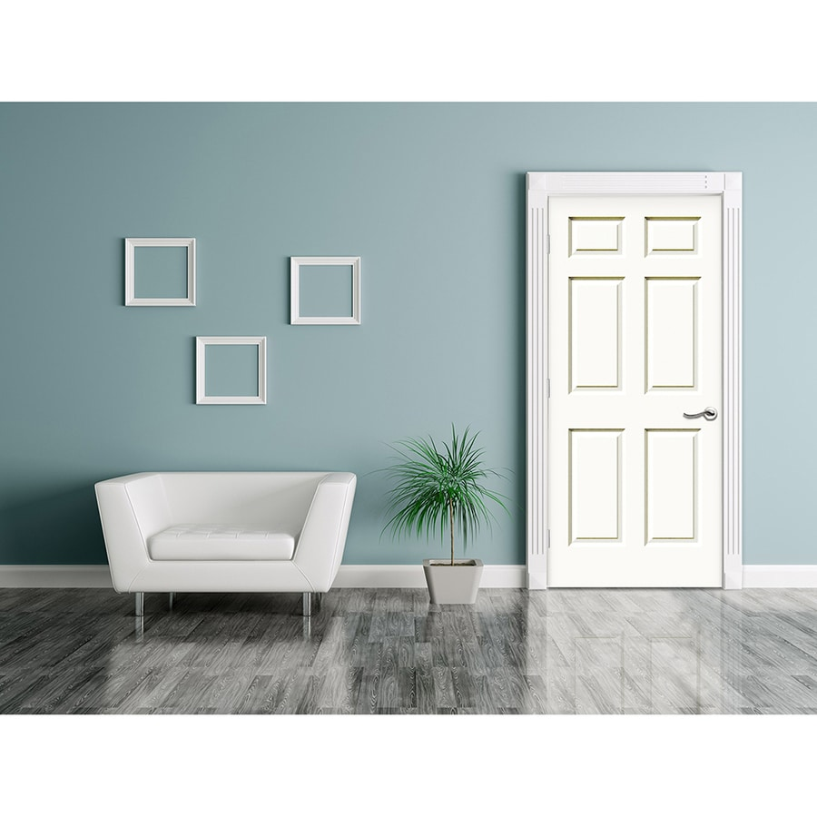 JELD-WEN Hollow Core 6-Panel Slab Interior Door (Common: 32-in x 80-in; Actual: 32.0000-in x 80.0000-in)