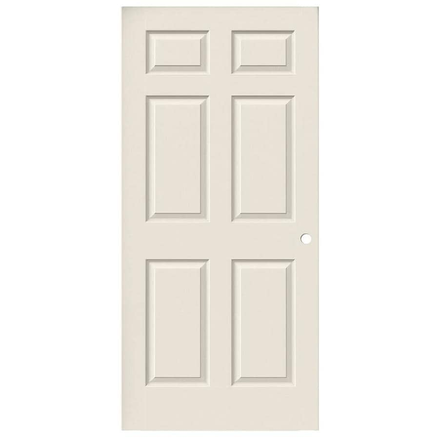JELD-WEN Hollow Core 6-Panel Slab Interior Door (Common: 36-in x 80-in; Actual: 36-in x 80-in)