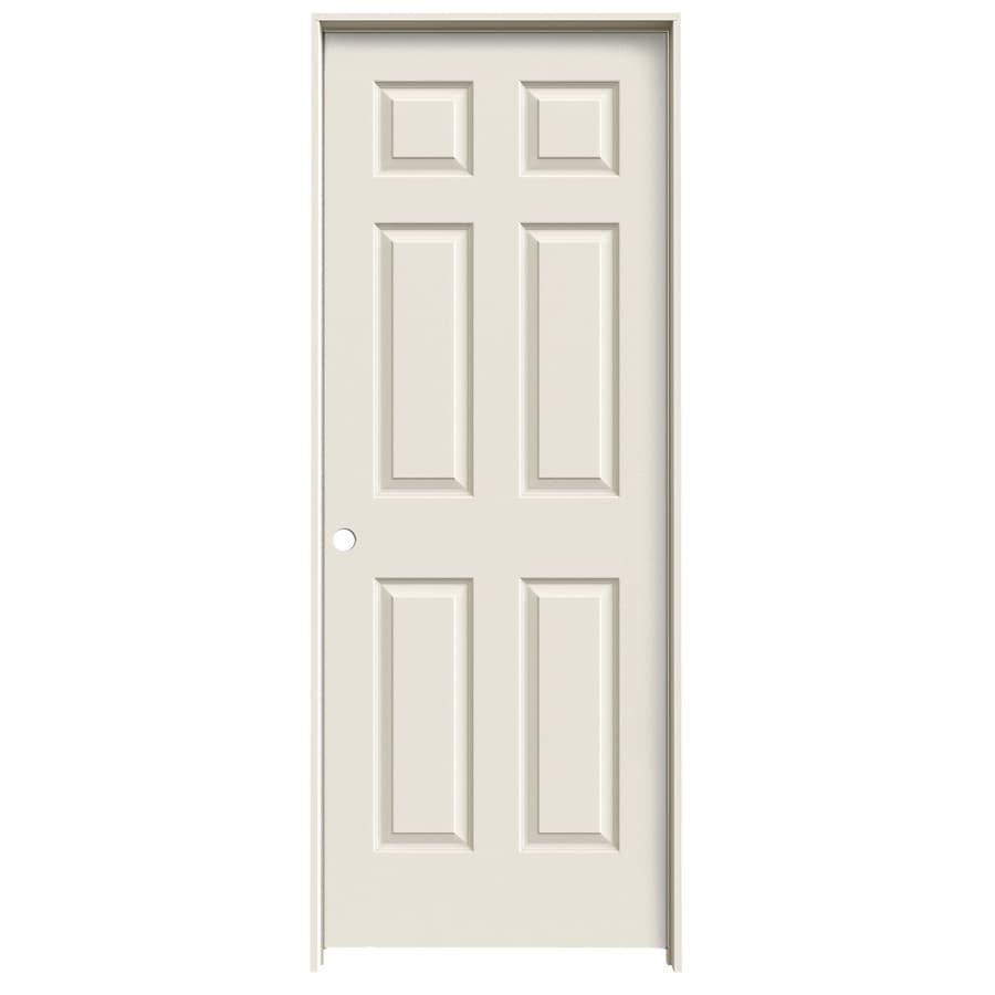JELD-WEN Prehung Hollow Core 6-Panel Interior Door (Common: 28-in x 80-in; Actual: 29.562-in x 81.688-in)
