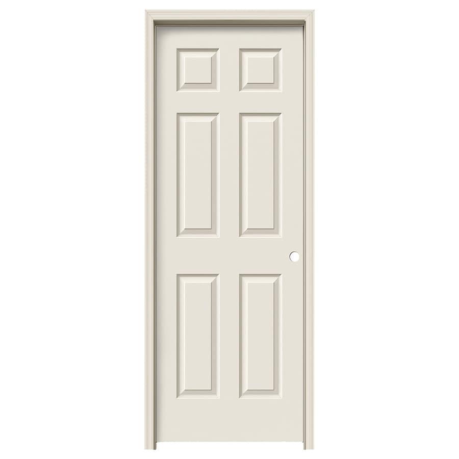 JELD-WEN 6-panel Single Prehung Interior Door (Common: 24-in x 80-in; Actual: 25.562-in x 81.688-in)