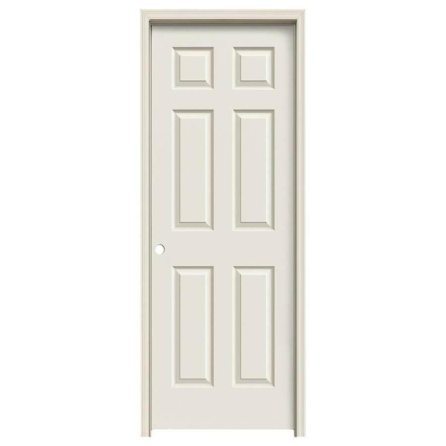JELD-WEN 6-panel Single Prehung Interior Door (Common: 28-in x 80-in; Actual: 29.562-in x 81.688-in)