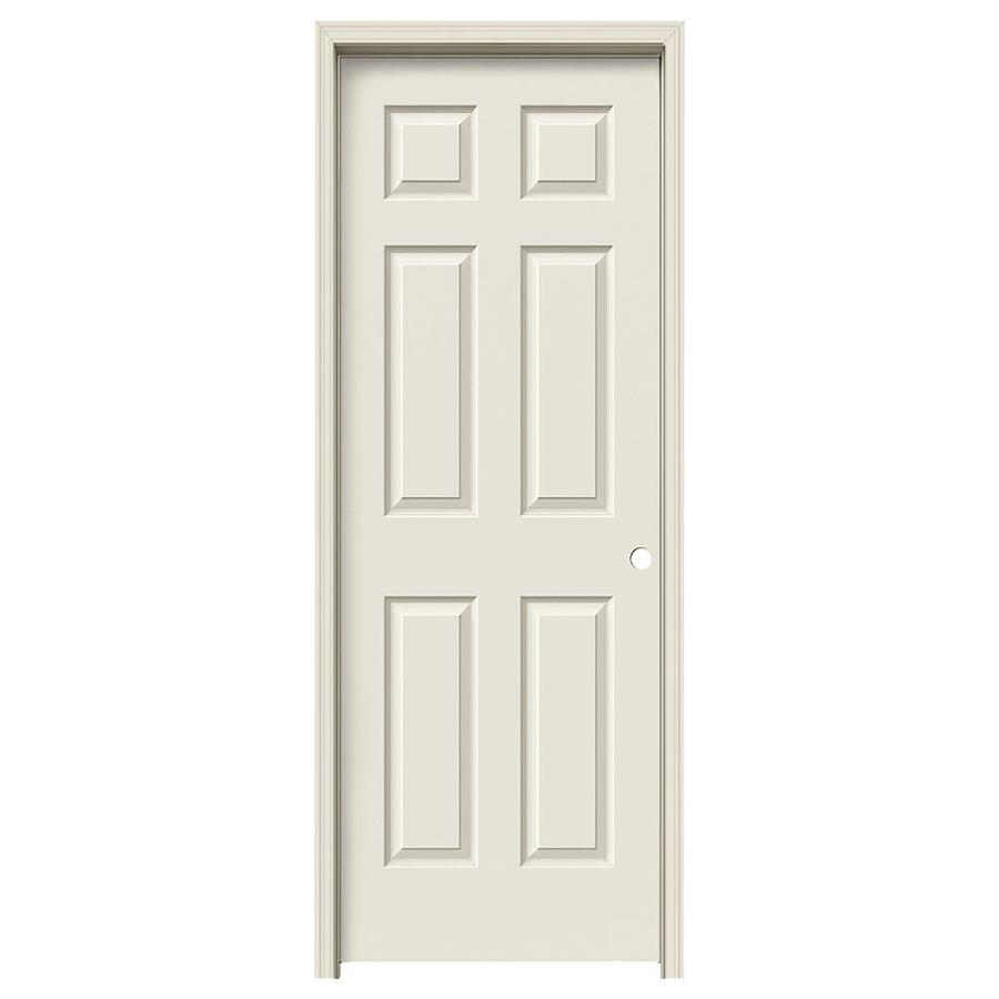 JELD-WEN Colonist Primed Hollow Core Molded Composite Single Prehung Interior Door (Common: 28-in x 80-in; Actual: 29.562-in x 81.688-in)