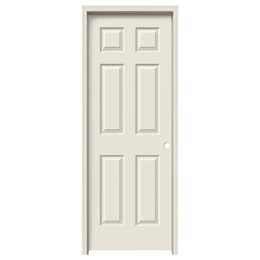 JELD-WEN 6-panel Single Prehung Interior Door (Common: 32-in x 80-in; Actual: 33.562-in x 81.688-in)