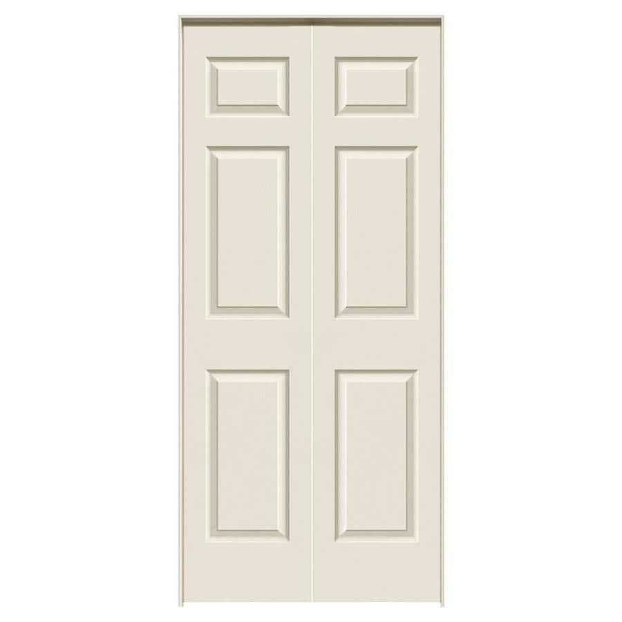 JELD-WEN Prehung Hollow Core 6-Panel Interior Door (Common: 36-in x 80-in; Actual: 37.562-in x 81.688-in)