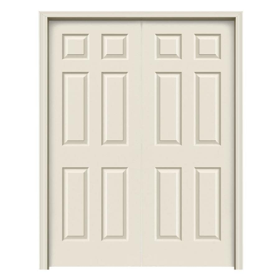 Jeld Wen Colonist Primed 6 Panel Hollow Core Molded Composite Door With Hardware Common 48 In