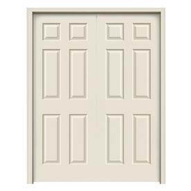 Jeld Wen Colonist Primed 6 Panel Hollow Core Molded Composite Door With Hardware