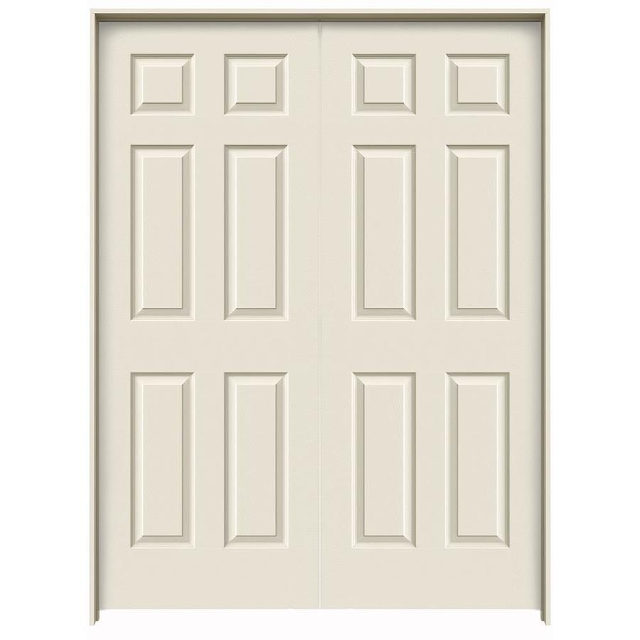 JELD-WEN Prehung Hollow Core 6-Panel Interior Door (Common: 48-in x 80-in; Actual: 49.563-in x 81.688-in)