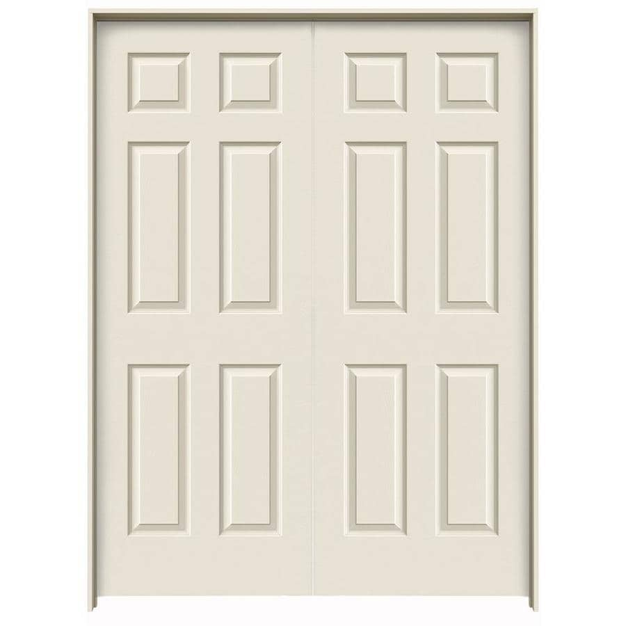 JELD-WEN Prehung Hollow Core 6-Panel Interior Door (Common: 60-in x 80-in; Actual: 61.563-in x 81.688-in)