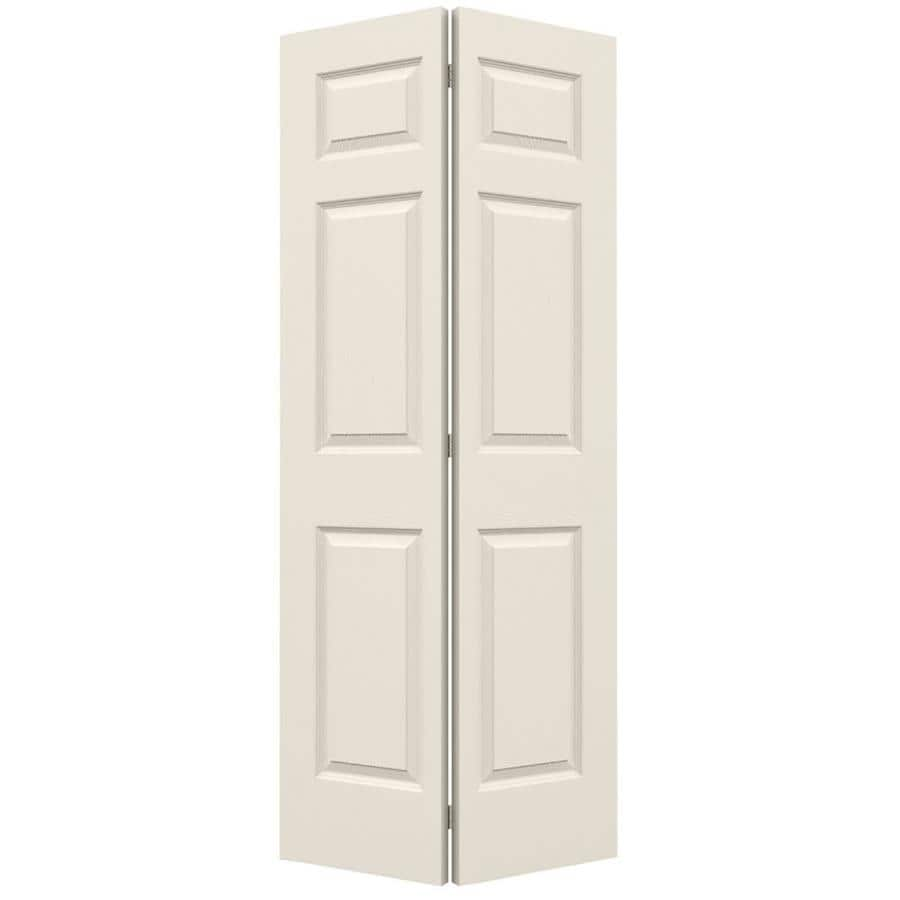JELD-WEN Hollow Core 6-Panel Bi-Fold Closet Interior Door (Common: 36-in x 80-in; Actual: 35.5-in x 79-in)