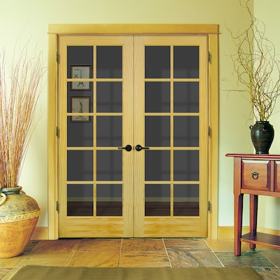 Prehung Solid Core 10 Lite Clear Glass Pine Interior Door Common 48 In X 80 In Actual 49 562 In X 81 688 In