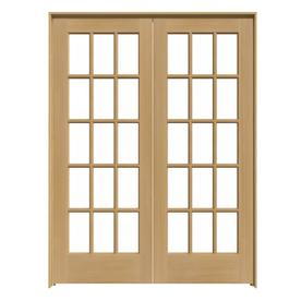 Jeld Wen 15 Lite Unfinished Clear Gl Wood Pine Door With Hardware Common