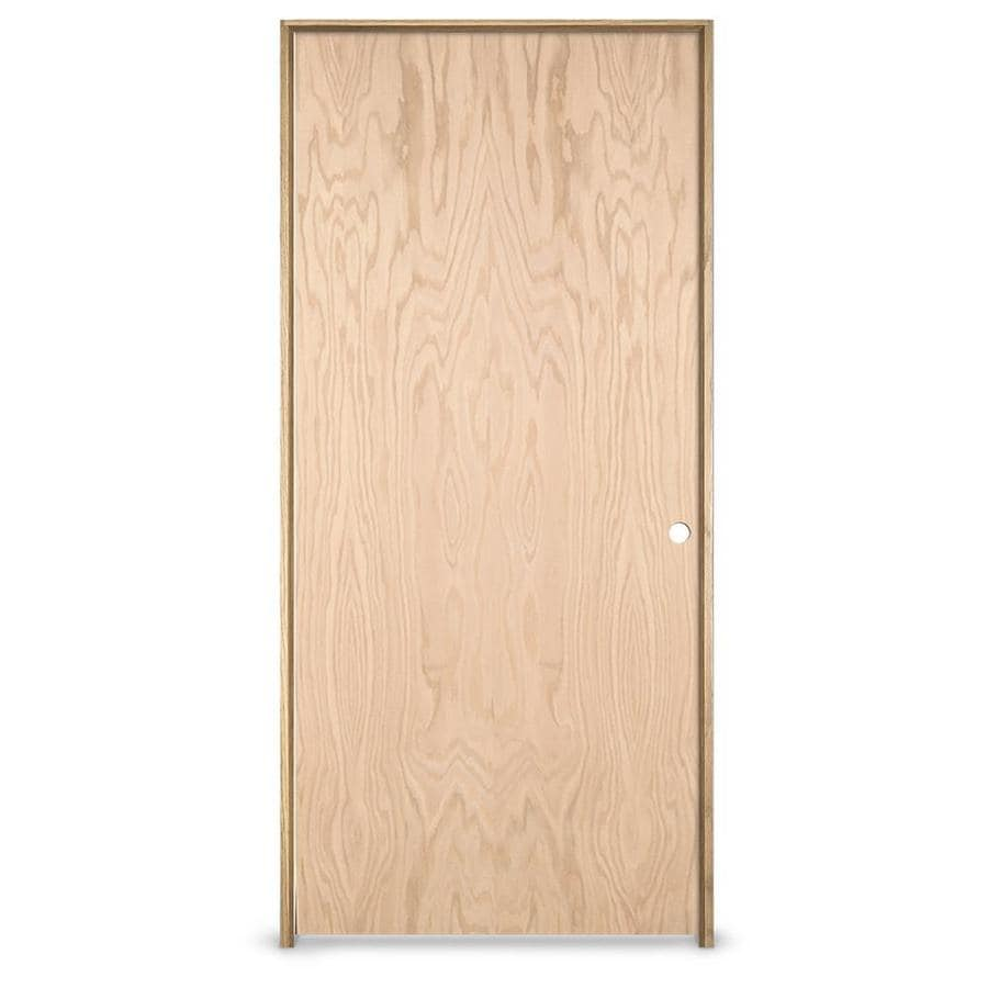 JELD-WEN Oak Single Prehung Interior Door (Common: 24-in x 80-in; Actual: 25.5620-in x 81.6880-in)