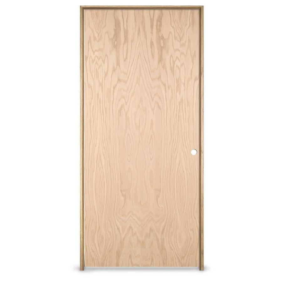 JELD-WEN Hollow Core Oak Single Prehung Interior Door (Common: 32-in x 80-in; Actual: 33.562-in x 81.688-in)