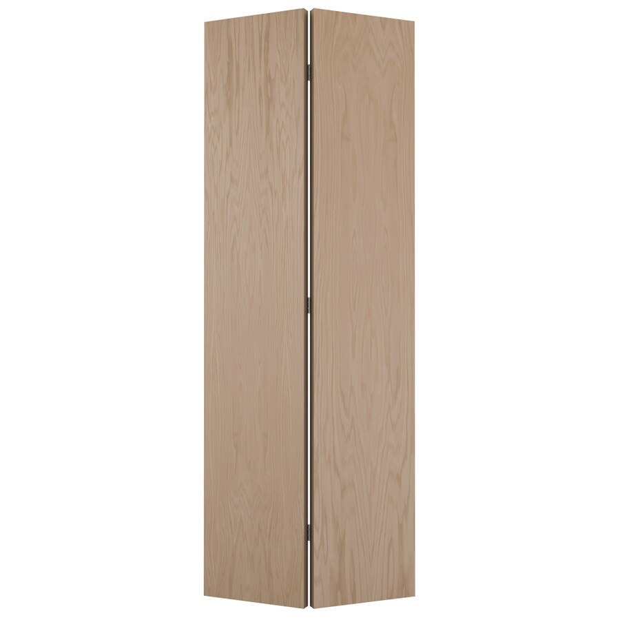 JELD-WEN Hollow Core Flush Oak Bi-Fold Closet Interior Door (Common: 36-in x 80-in; Actual: 35.5-in x 79-in)