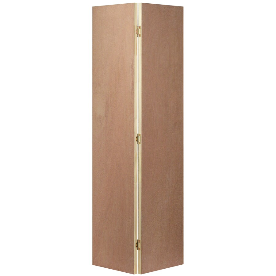 JELD-WEN Flush Lauan Bi-Fold Closet Interior Door (Common: 36-in x 80-in; Actual: 35.5000-in x 79-in)