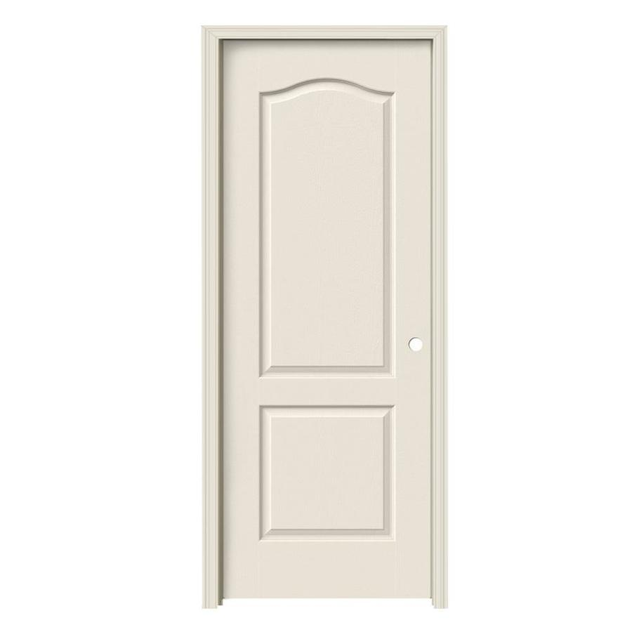 JELD-WEN Camden Primed Hollow Core Molded Composite Single Prehung Interior Door (Common: 24-in x 80-in; Actual: 25.562-in x 81.688-in)