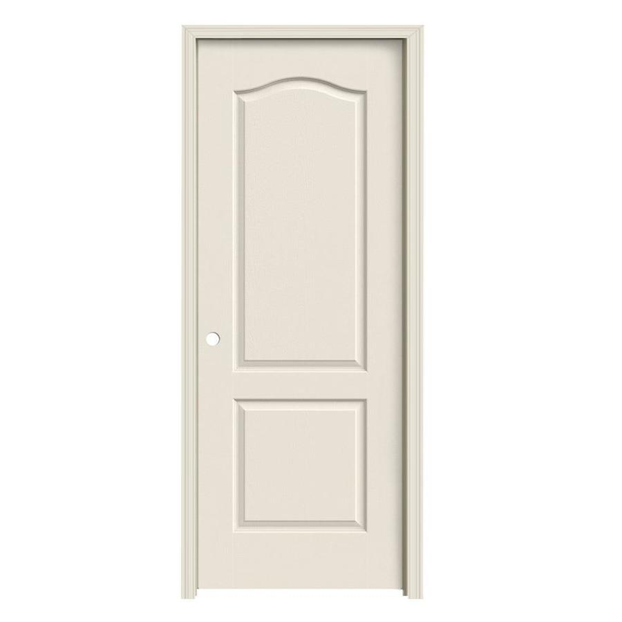 JELD-WEN Camden Primed Hollow Core Molded Composite Single Prehung Interior Door (Common: 28-in x 80-in; Actual: 29.562-in x 81.688-in)