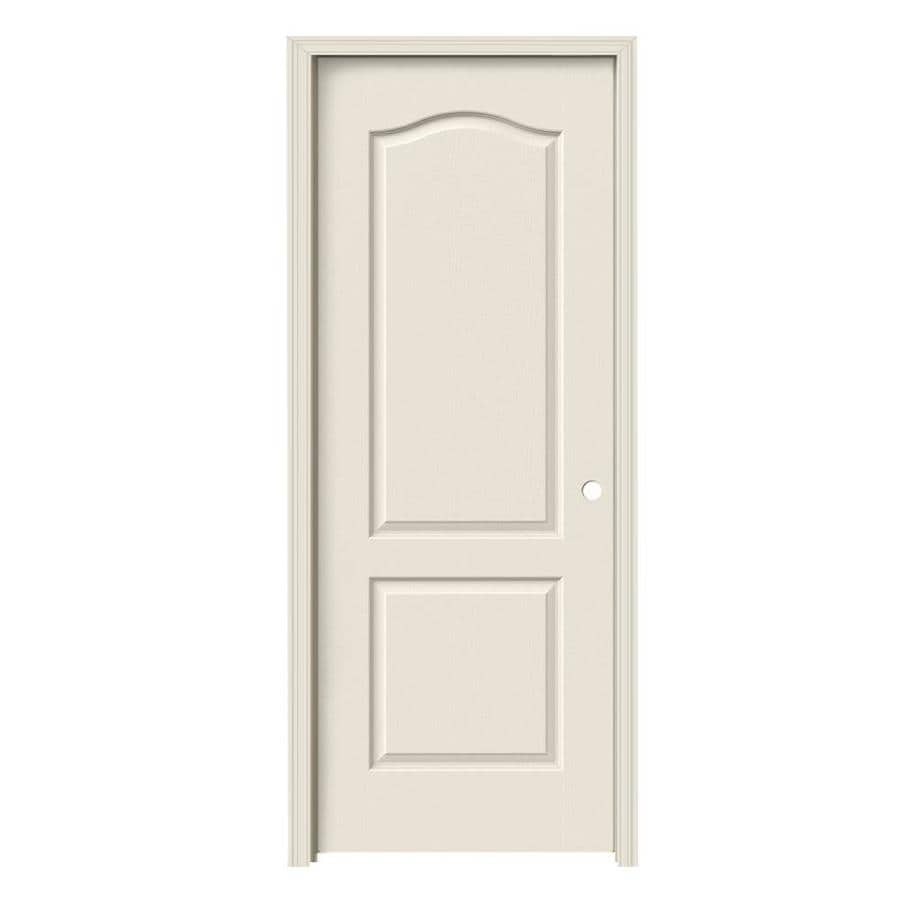 Shop Jeld Wen 2 Panel Arch Top Single Prehung Interior Door Common 30 In X 80 In Actual 31