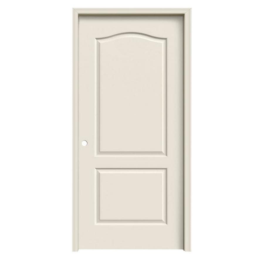 JELD-WEN Camden Primed Hollow Core Molded Composite Single Prehung Interior Door (Common: 36-in x 80-in; Actual: 37.562-in x 81.688-in)
