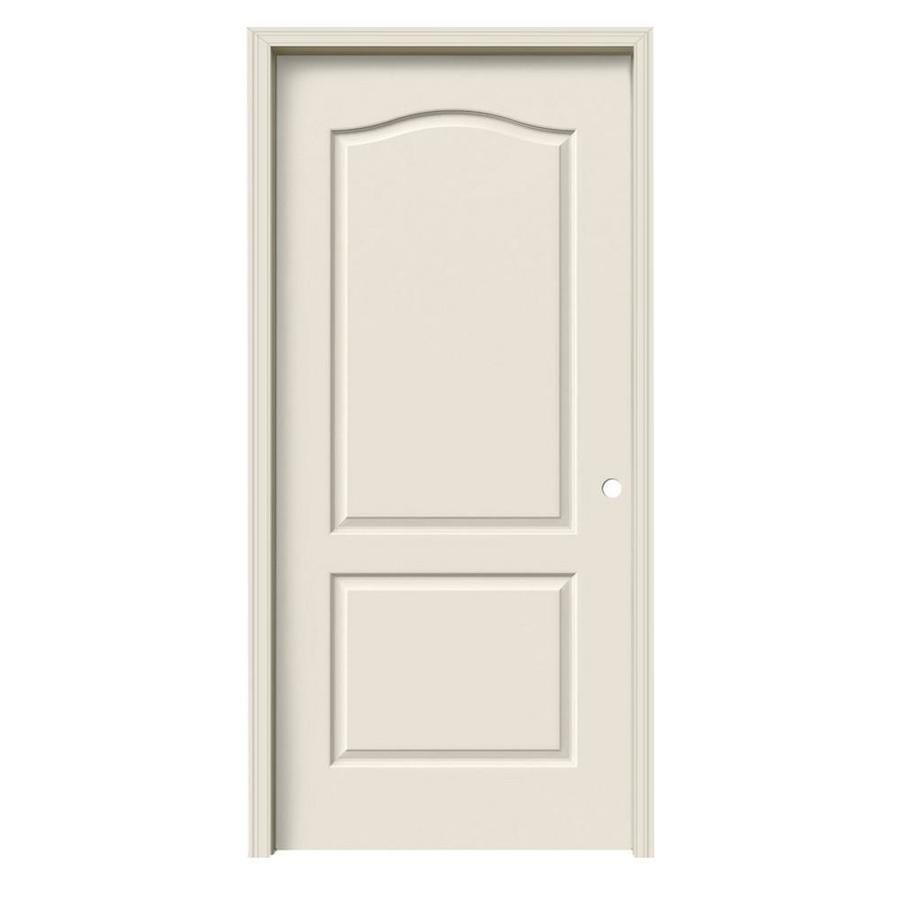 JELD-WEN Camden Primed Hollow Core Molded Composite Single Prehung Interior Door (Common: 36-in x 80-in; Actual: 37.562-in x 81.688-in)