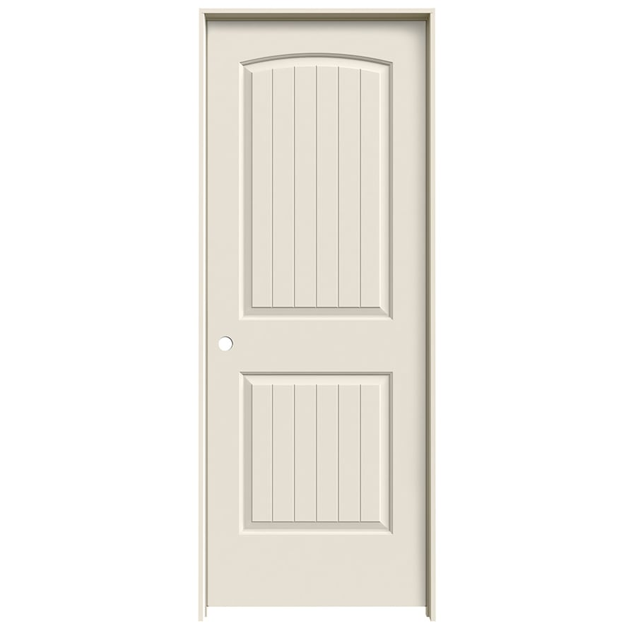 JELD-WEN Santa Fe Primed Hollow Core Molded Composite Single Prehung Interior Door (Common: 24-in x 80-in; Actual: 25.5620-in x 81.6880-in)